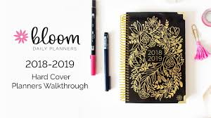 Academic Daily Planner Bloom Daily Planners 2018 2019 Hard Cover Academic Year Daily