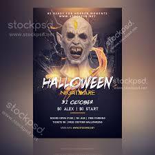 Free Flyer Halloween Nightmare Free Psd Flyer Stockpsd