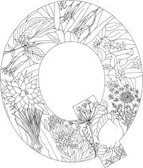 Small Picture Letter Q with Plants coloring page Free Printable Coloring Pages