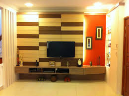 Small Picture Simple Flat Screen TV Wall Design With Creative Padded Wooden Wall