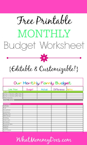free family budget worksheet free monthly budget template cute design in excel