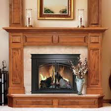 pleasant hearth fenwick cabinet fireplace screen and arch prairie smoked glass doors oil rubbed bronze hayneedle