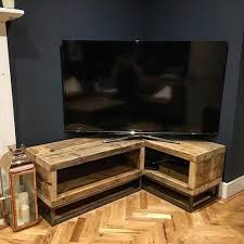 chic industrial furniture. Industrial Chic Reclaimed Corner TV Unit Stand Media 064 Intended For Tv Furniture Ideas 8 R