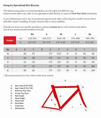 Specialized Diverge Size Chart 56 High Quality Specialized Road Size Chart