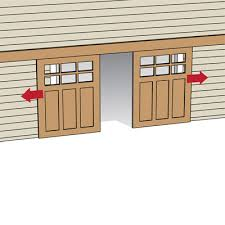 sliding garage doorsLocking sliding garage doors from both sides  latch inside