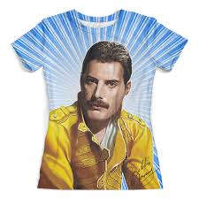 """Футболка с полной запечаткой (женская) """"<b>Freddie</b> Mercury ..."""