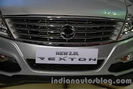 ssangyong rexton 2 0l grille at auto expo 2018