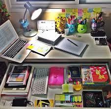 college desk desk organization