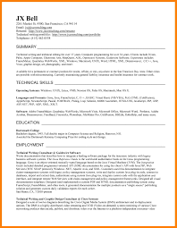 Writing A Technical Resume Resume Template