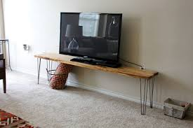 tv stand bench any table a tutorial