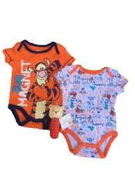 baby tigger and pooh. Plain And Get Quotations  DB Disney Baby Infant Tigger 2Pack Creeper Bodysuit And  Winnie The Pooh Stick Rattle On And P