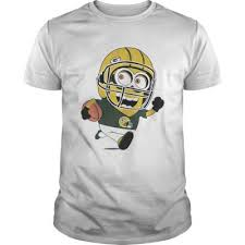 guys green bay packers minions playing rugby shirt