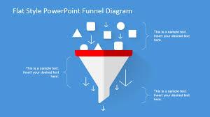 Powerpoint Funnel Chart Flat Design Powerpoint Funnel Diagram
