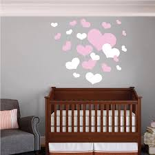 nursery room heart wall decals