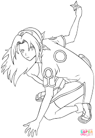 Small Picture Sakura Haruno coloring page Free Printable Coloring Pages