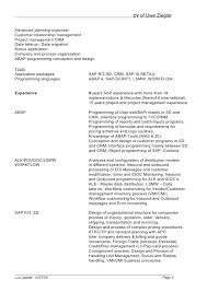 sap bi resume sample