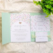 spring wedding invitations cheap invites at invitesweddings com Wedding Invitation Kits Coral colorful polka dots mint pocket wedding invitationiwpi005 wedding invitation kits can insert picture