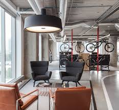 urban office design. global architecture and design firm perkins will has completed an office in chicagou0027s fulton market district that features indoor bicycle track urban