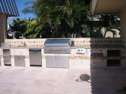 Outdoor Kitchen Gas Grill Built In Dcs Gas Grill In Outdoor Kitchen With Dish Washer Gas