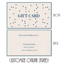 free printable gift card templates that can be customized perning to free customizable gift certificate template