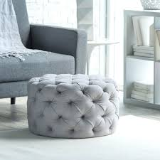 ... Coffee Table, Latest White Round Simple Fabric Oversized Ottoman Coffee  Table Design Ideas: Enchanting ...