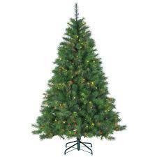 75u0027 PreLit Slim Black Ashley Spruce Artificial Christmas Tree Pre Lit Spruce Christmas Tree