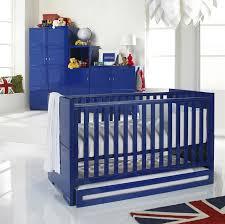 blue nursery furniture. izziwotnot cot bed skyline with drawer blue high gloss nursery furniture d