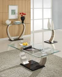 Modern Coffee Table Set Glass And Wood End Tables Square Goose Feather Cushions Rectangle