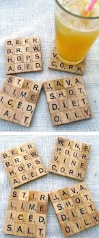decorations scrabble coaster easy diy room decordiy home easy