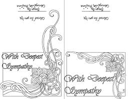 Coloring Pages Color Your Own Sympathy Card Sets Of Ten Instant