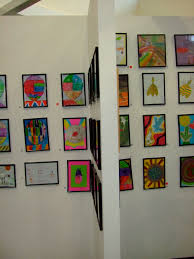 Childrens Artwork Display Childrens Art On Display Display Child And Gallery Wall