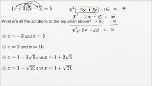 solving quadratic equations harder example math new sat khan academy