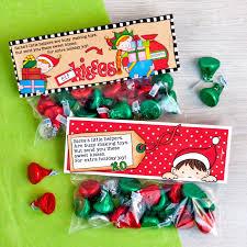 elf kisses free bag toppers