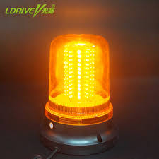 Small Rotating Beacon Light 1pcs 120 Leds 12v 24v Car Truck Magnetic Led Strobe Rotating