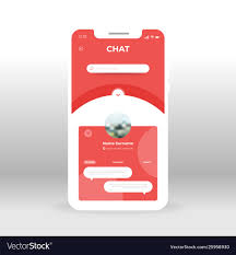 Design Of Screen Red Chat Ui Ux Gui Screen For Mobile Apps Design