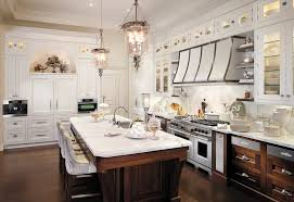 new york white shaker style kitchen cabinets with snless steel ovens traditional and crown molding lighting