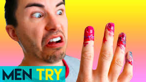 Men Try Nail Art - Water Marbling Nails DIY - YouTube