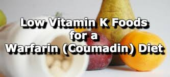 Food High In Vitamin K Nutrient Charts Foods Low In Vitamin K For A Warfarin Coumadin Diet