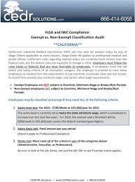 Flsa And Iwc Compliance Exempt Vs Non Exempt