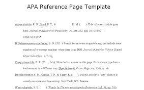 Refrence Template Apa Citation Template Wcc Usa Org