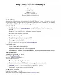 Entry Level Resume Objective Examples Resume Pinterest Resume Entry