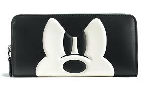 mickey mouse purse and wallet x coach accordion zip leather