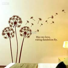 Wall Decor Sticker Dandelion Quotes Art Wall Decor Vinyl Stickers Removable Decals