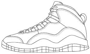 incredible decoration jordan shoes coloring pages jordan shoes drawing at getdrawingscom free for personal use