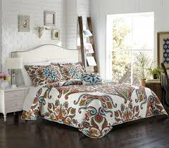 queen free your spirit with this amazing large scale bohemian paisley globally inspired quilt set