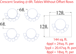 Round Table Seating Capacity Seating Styles For Meetings Square Footage
