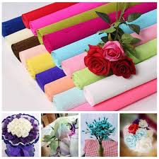 Flower Making Paper 5pcs 50x70cm Crepe Papers Wrapping Flowers Packing Material Diy