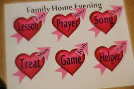 Diy Party Mom February Family Home Evening Chore Chart