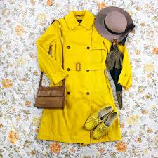 London Fog Trench Coat In Canary Yellow With Depop