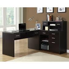 monarch specialties contemporary cappuccino l shaped desk